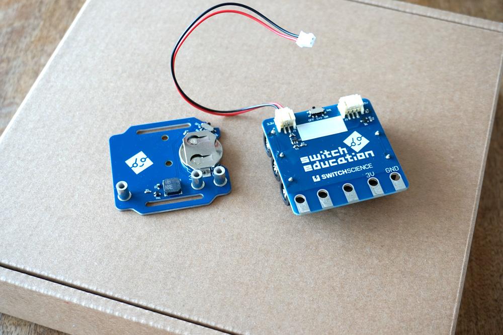 microbit バングルモジュールと電池モジュール