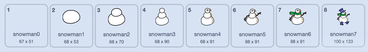 「雪だるま」のコスチューム